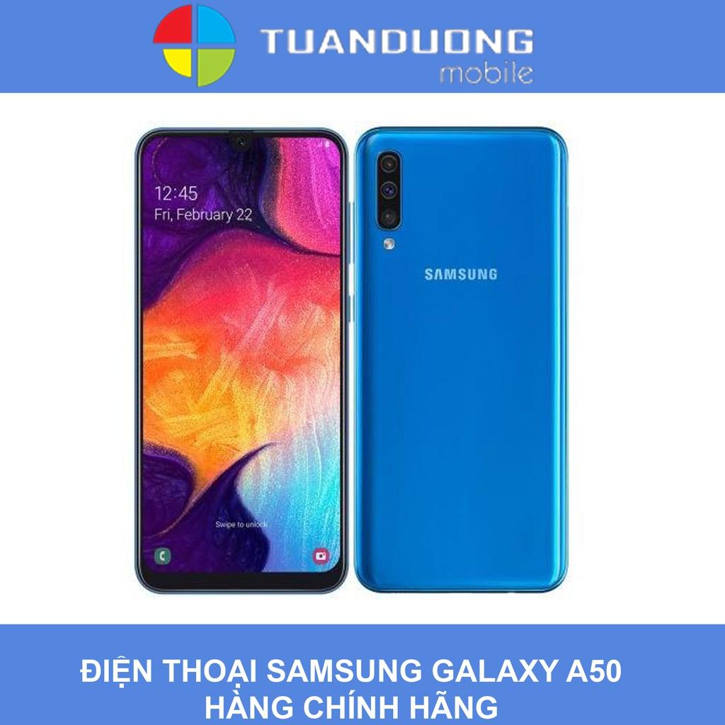[Mã ELMTG giảm 4% đơn 2Tr] Điện Thoại SAMSUNG Galaxy A50 (4GB/64GB) Hàng  Chính Hãng