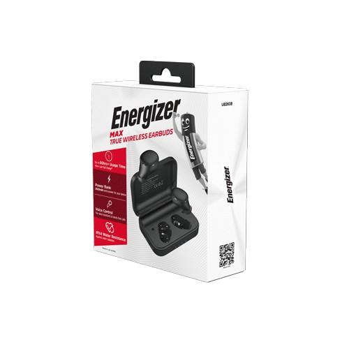 [Mã ELDTRJUL giảm 5% đơn 150K] Tai nghe True Wireless Energizer UB2608, kèm hộp sạc di động, chống thấm nước IPX4