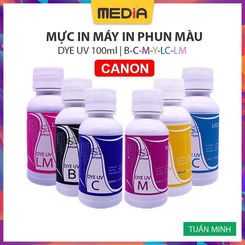 Mực In Phun Màu Media DYE UV Cho Máy In Canon 100ml