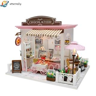 eternally 11.24 DIY Model Wooden Miniature Doll House Furniture Building Blocks Gift Toys