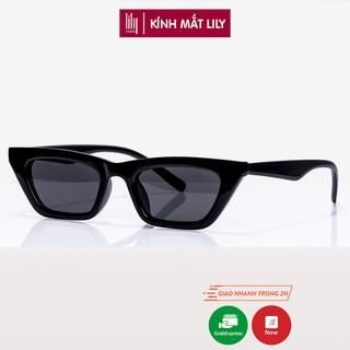 Kính mát nam nữ Lilyeyewear mắt mèo chống UV400, chất liệu nhựa chắc chắn thiết kế thời trang - 95028