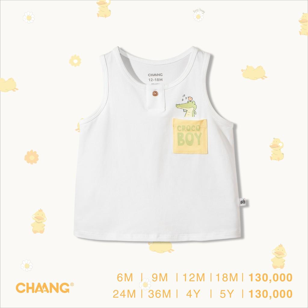 Áo ba lỗ Lake trắng, quần áo trẻ em, phụ kiện, đồ sơ sinh hãng Chaang chất  liệu cotton an toàn cho bé giá cạnh tranh