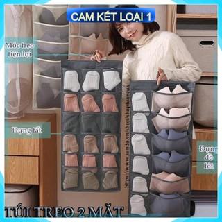 [Hàng Chính Hãng] Túi treo đồ lót 2 mặt 30 ô đa năng nhiều ngăn để tất vớ có móc ích lợi và tiện dụng kiểu mới