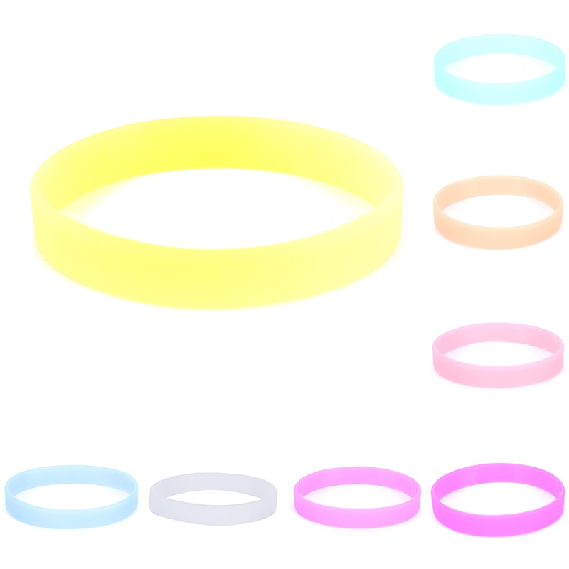 ✪FAN✪Glow In The Dark Noctilucous Silicone Rubber Wristband Bracelet