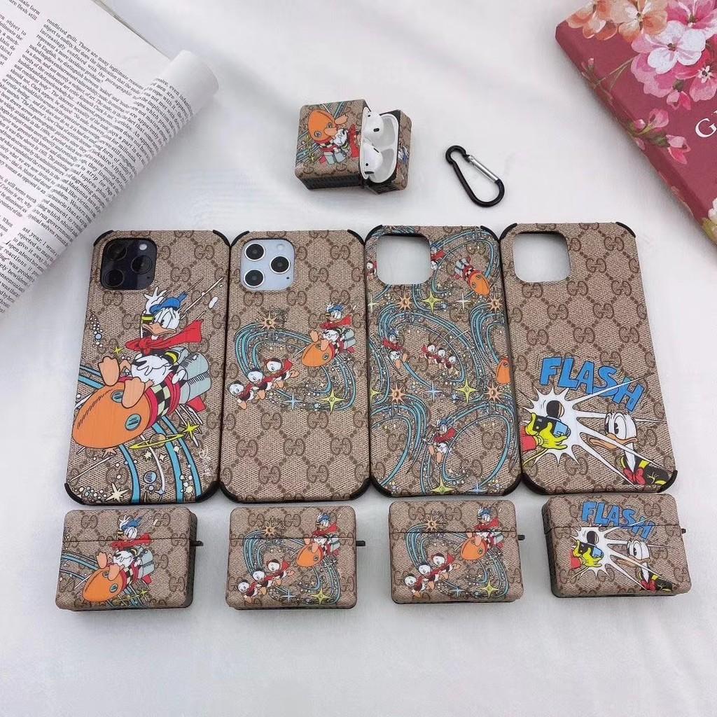 Ốp Bảo Vệ Hộp Đựng Tai Nghe Airpods Hình Vịt Donald Gucci Xinh Xắn Cho  Iphone 11 12 Pro Max chính hãng