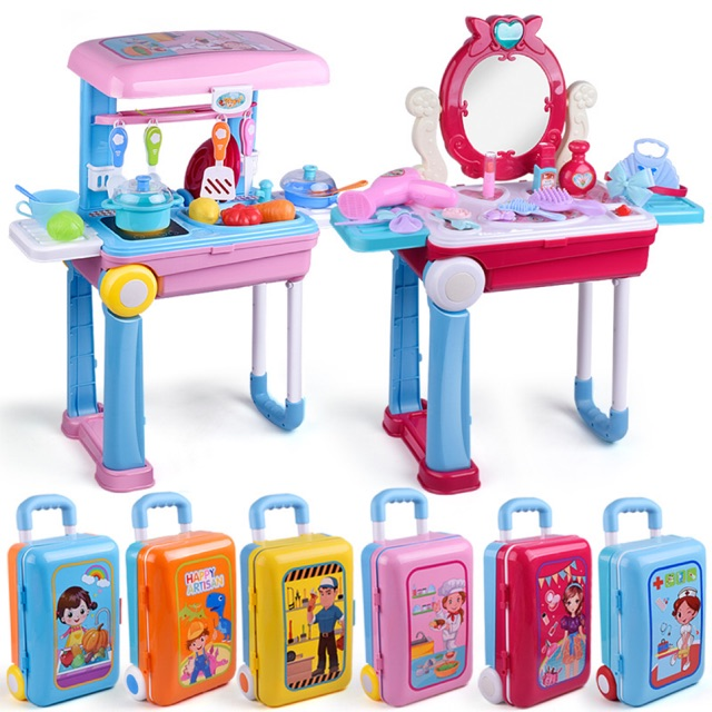 Bộ vali đồ chơi 6 chủ đề cho bé