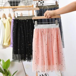 Chân váy công chúa dài họa tiết ngôi sao thời trang hè xinh xắn cho bé gái