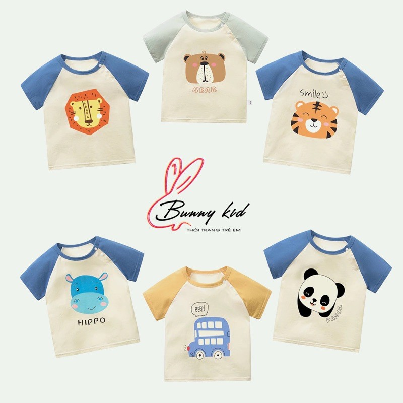 [Link2] Áo phông cotton cộc tay cho bé, áo thun bé trai bé gái nhiều hình xinh xắn dễ thương