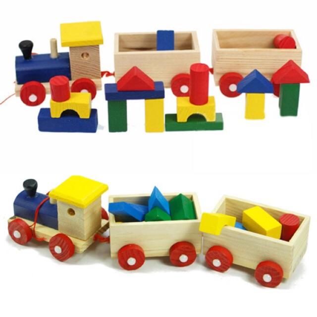[SALE 10%] Đồ chơi xe lửa bằng gỗ