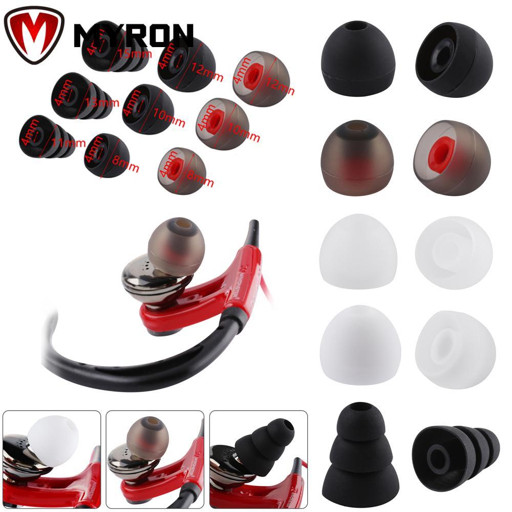 Set 10 Cặp Nút Silicone 4mm Thay Thế Cho Tai Nghe Nhét Tai