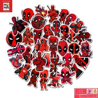 Sticker PVC Hoạt Hình – 35 Hình dán Đồ chơi cho trẻ em Deadpool STHA086