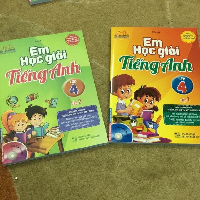 Sách - em học giỏi tiếng anh lớp 4 ( tập 1+2)