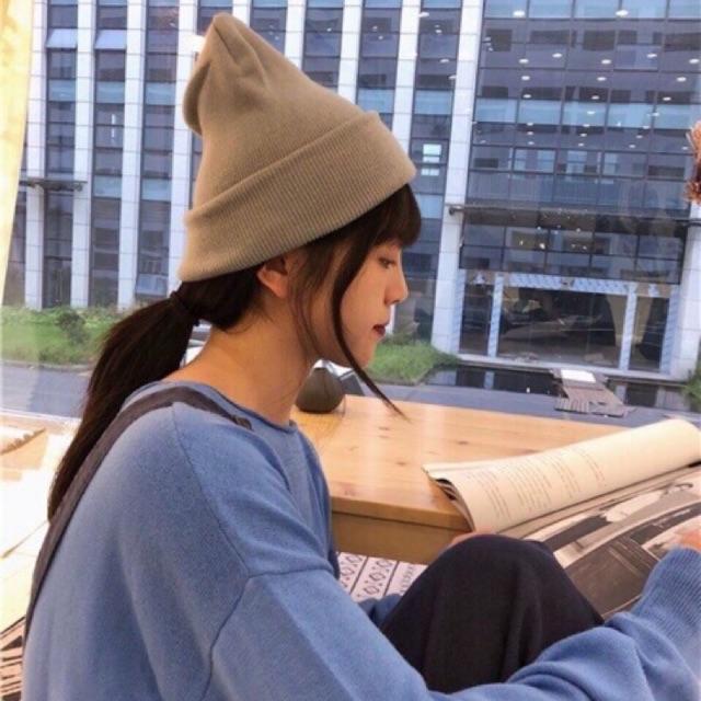 Mũ Len Beanie Cá Tính Phong Cách Hàn Quốc Nhiều Màu.