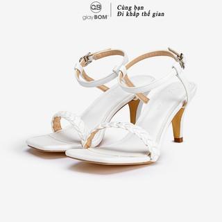 Giày Sandal Cao Gót giayBOM Quai Đan Gót Trụ Cao 5 cm GB00143 thumbnail