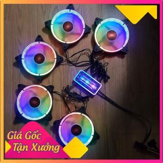 Combo 5 Fan Led RGB Coolmoon L8 + Tặng Bộ Hub Kết Nối Nguồn Và Điều Khiển – Gear.Market