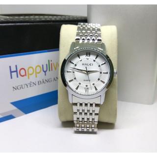 Đồng hồ Nam Halei 838 V6 mặt trắng cực chất