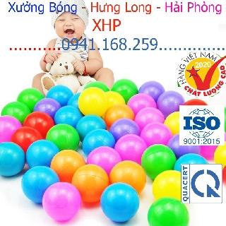 Túi 100 bóng nhựa đồ chơi cho bé bóng nhựa cho bé,nhà banh,nhà bóng