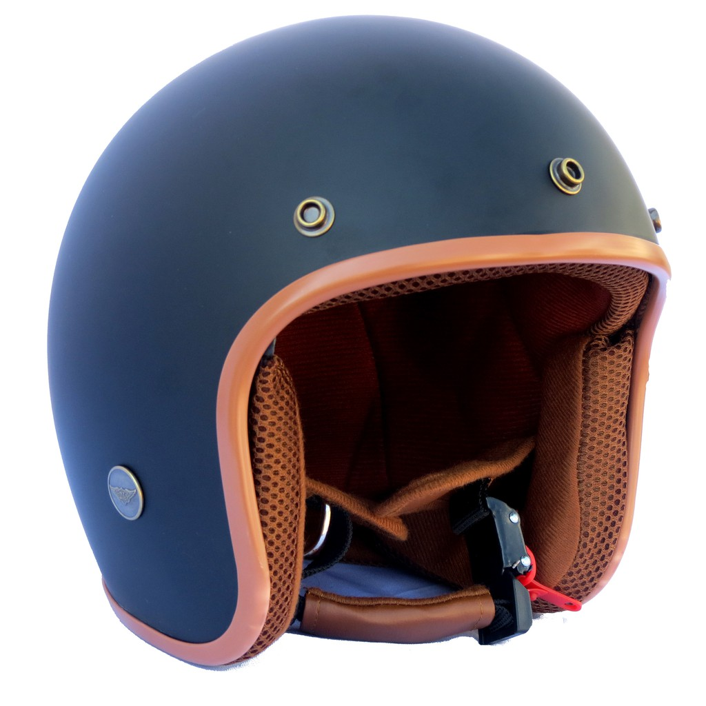Mũ bảo hiểm 3/4 NTMAX đen nhám (nhiều màu)