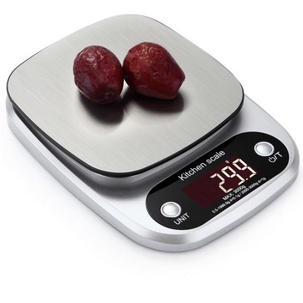 Cân điện tử nhà bếp tặng pin/5kg - 0,1g, chính xác [B.211]