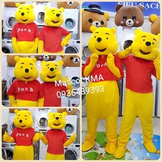 Quần áo hoá trang Mascot Gấu Pooh cỡ đại – sinh nhật, sự kiện
