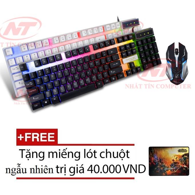 Bộ bàn phím LED giả cơ và chuột chơi Game K8 - K1 (Đen) + Tặng kèm lót chuột