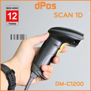 Máy quét mã vạch dPos DM-C1200 - Máy Scan Barcode 1D có dây cầm tay - Bảo Hành 12 Tháng thumbnail