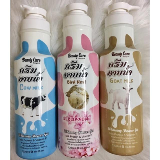 💥 (HOT) Sữa Tắm Trắng da Bò, Dê ,Yến BEAUTY CARE Bangkok 1200ml Thailand chính hãng