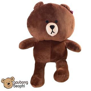 Gấu Brown Nâu Khổng Lồ Nhiều Size – Vải Nhung Siêu Mịn – Quà Tặng Valentine 14/2 Cho Nàng
