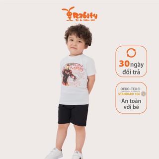 Bộ áo quần cổ tròn Iron man bé trai Rabity 5101.5104