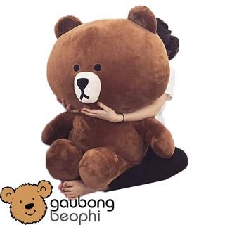 Gấu bông brown khổ vải 1m màu socola