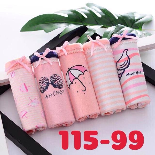 Quần lót cotton kute siêu đẹp hàng sịn hộp 5 quần nhiều mẫu đẹp