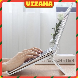 Giá đỡ laptop tablet bằng nhôm kiêm đế tản nhiệt nâng Macbook máy tính bảng Ipad. thumbnail