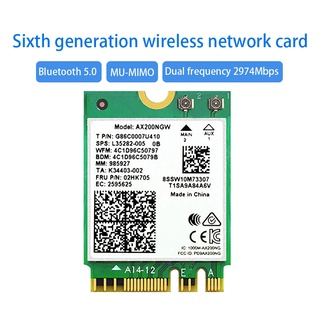 for Dual-Band AX200NGW Wireless Network Card WIFI 6 Generation M.2/NGFF Bluetooth 5.0 Built-in Wireless Network Card
