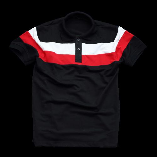 Áo thun có cổ nam TONIKIM thiết kế ngắn tay, cổ bẻ, phối màu, vải thun coton thoáng mát, đủ size P4