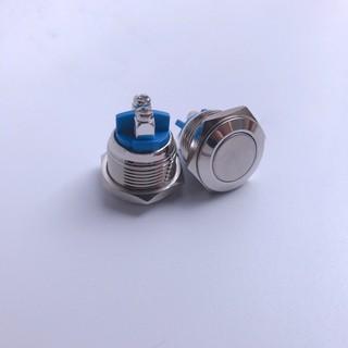 Nút nhấn nhả vỏ kim loại phi 16mm, chống thấm nước