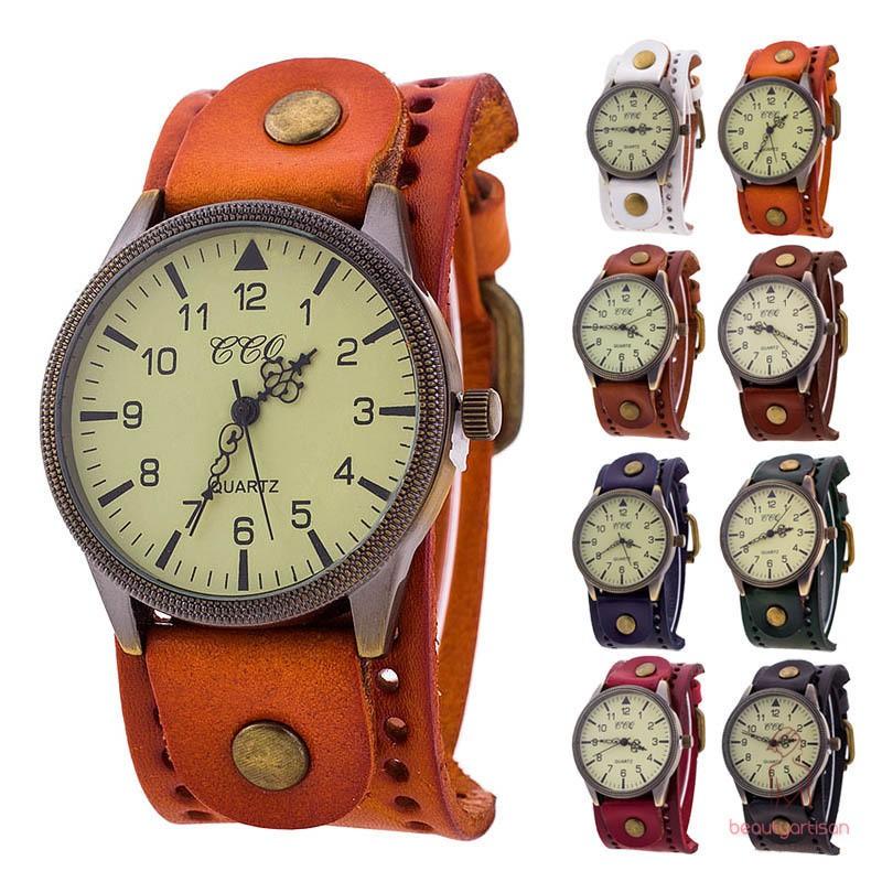 Đồng hồ nam dây da bò thời trang