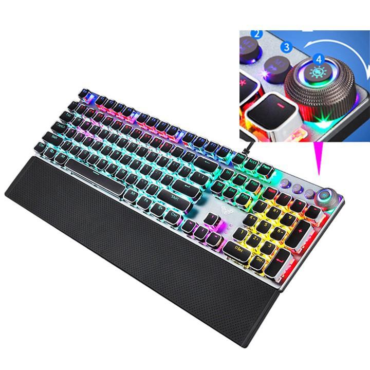 Bàn phím cơ phím led cao cấp, Bàn phím cơ cho game thủ độ nảy cao nhiều chế độ led khác nhau