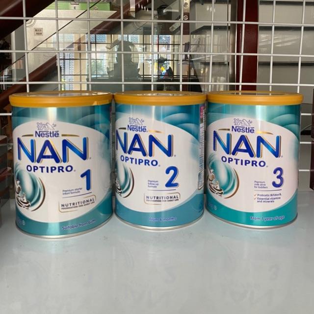 Sữa NAN optipro úc 800g số 1 2 3