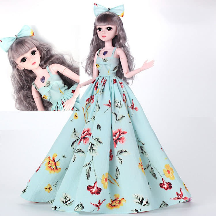 Búp Bê BJD 60cm 18 Khớp Váy Xanh