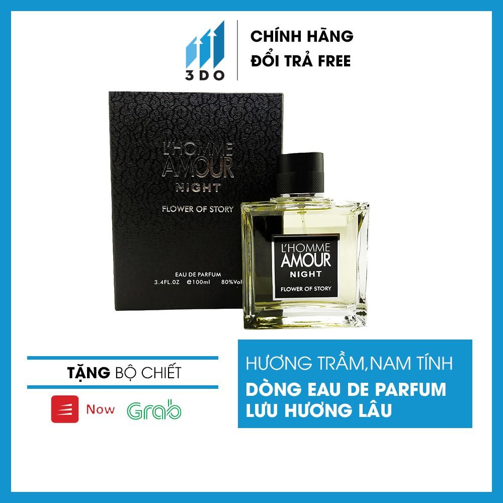Nước hoa nam cao cấp L' HOMME 100ml, mùi hương cô đặc thơm lâu đến 8h Phân phối chính hãng bởi 3DO, nước hoa quý ông