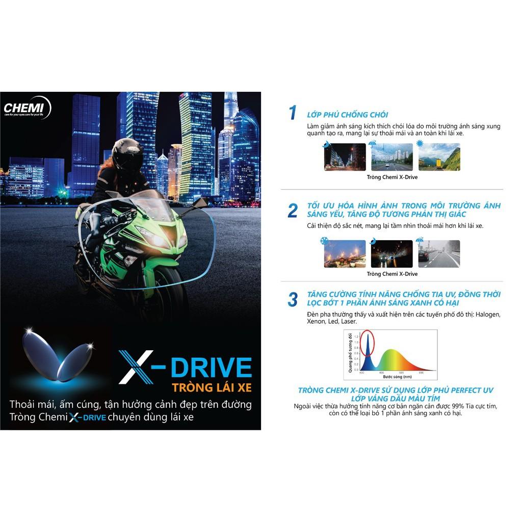 Tròng kính X-Drive lái xe Chemi Hàn Quốc
