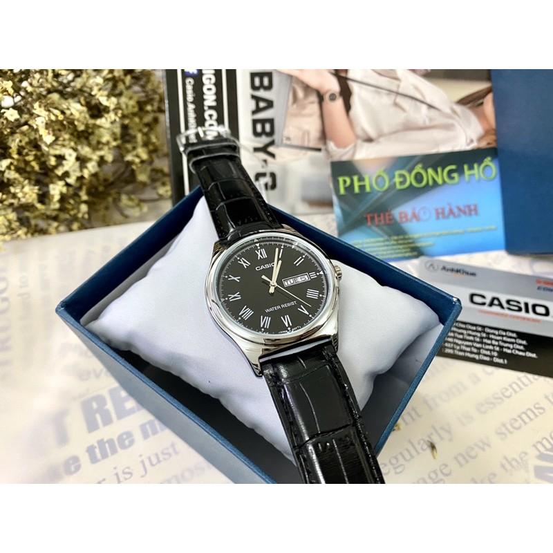 Đồng hồ nam dây da Casio chính hãng Anh Khuê MTP-V006L-1BUDF