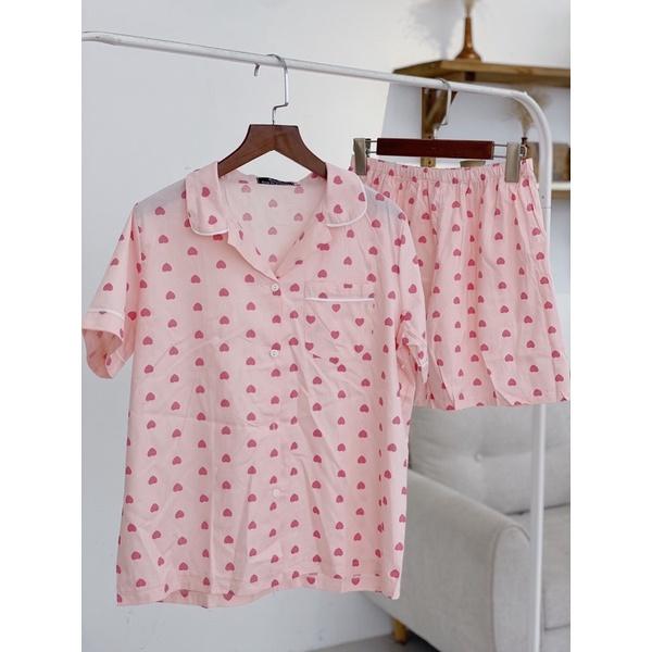 Mặc gì đẹp: Ngủ ngon hơn với Bộ Pijama bộ đồ ngủ quần cộc bộ mặc nhà chất thô cao cấp [ ảnh thật tự chụp]