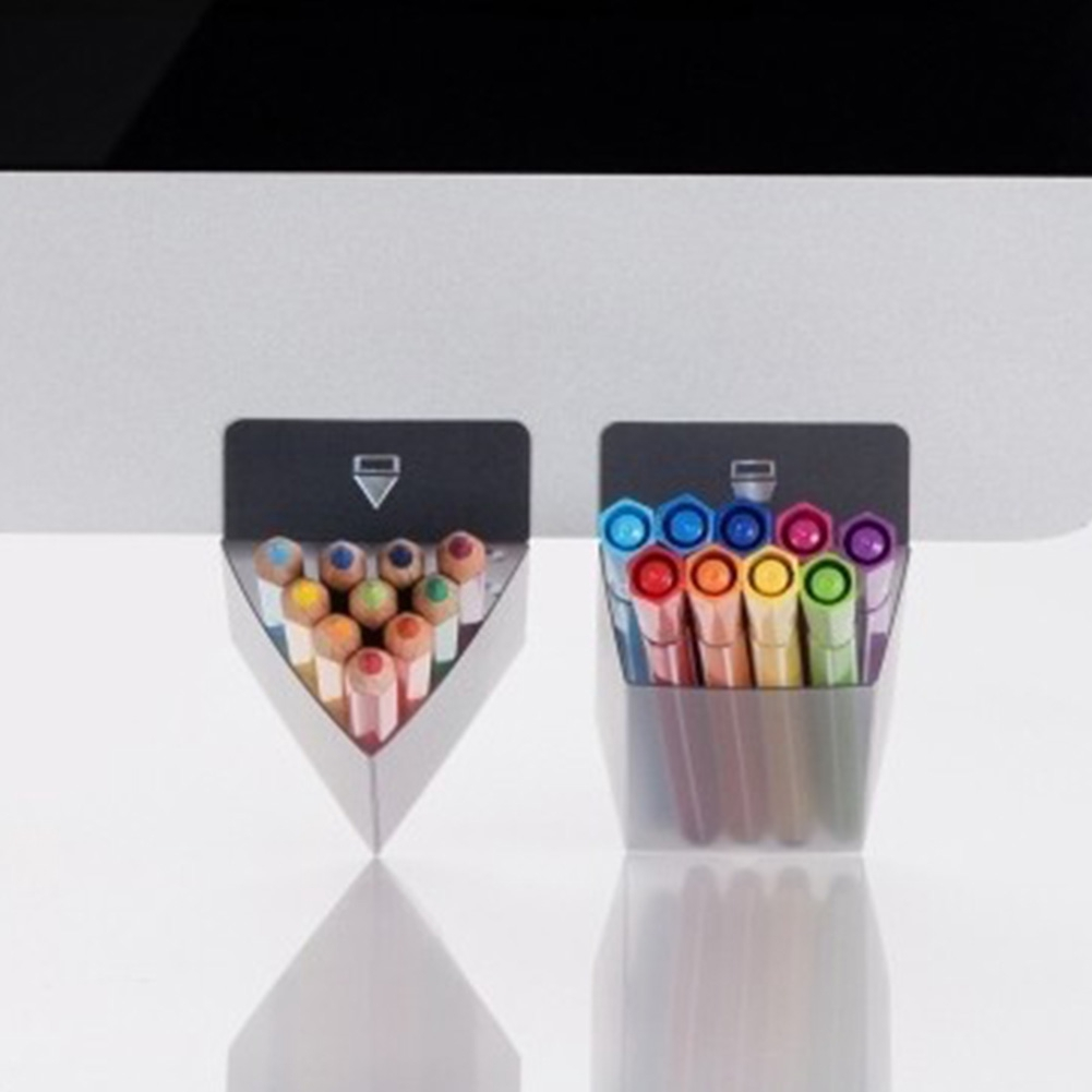 DIY Desktop Sticky Pen Pencil Holder Container Office Desk Organizer Storage