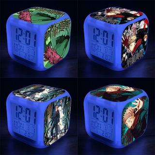Đồng hồ báo thức để bàn in hình CHÚ THUẬT HỒI CHIẾN JUJUTSU KAISEN VER NĂM MỚI anime chibi LED đổi màu