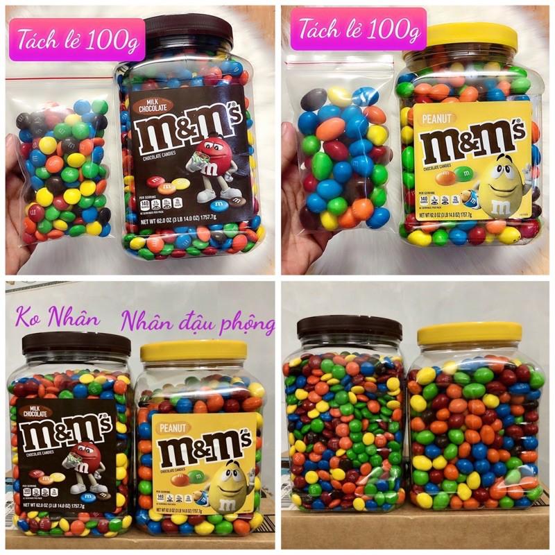 ❤️ [Date 9/2021] Tách lẻ 100g Kẹo Socola Sữa M&M Mỹ (Không nhân/ Nhân đậu phộng)
