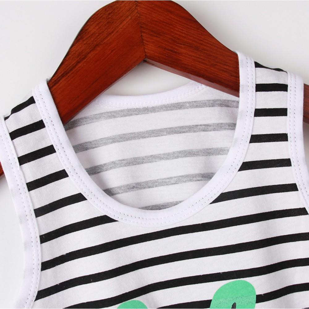 Bộ quần áo trẻ em ba lỗ mùa hè tươi mát ,đồ bộ bé trai, bộ quần áo thun cho bé chất cotton hàng xuất Hàn Quốc đẹp