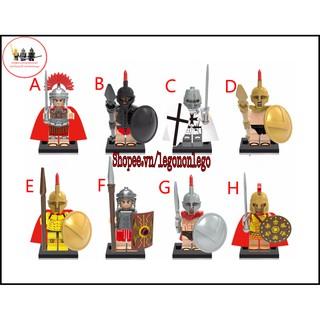 Minifigure quân đội lính trung cổ Sparta Spartacus Rome X1064