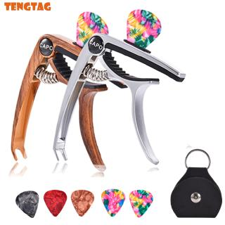 Guitar Capo for Acoustic and Electric Guitars Bass Ukulele Mandolin Banjo with Picks and Picks Holder