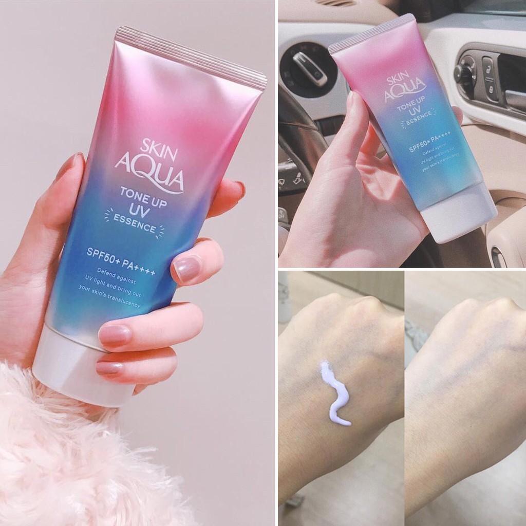 Kem chống nắng Skin Aqua Tone up UV Essence SPF50+PA++++ 80g | Shopee Việt  Nam